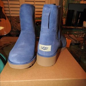 d26cc4139c6 FLASH SALE! NIB UGG KRISTIN SLIM BLUE WEDGE BOOT NWT